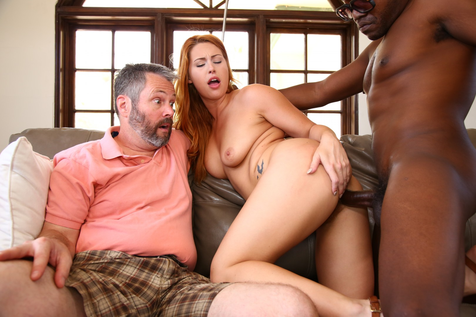 Teen brunette wife repairman interracial